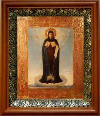 Афонская икона БМ (19х22), светлый киот
