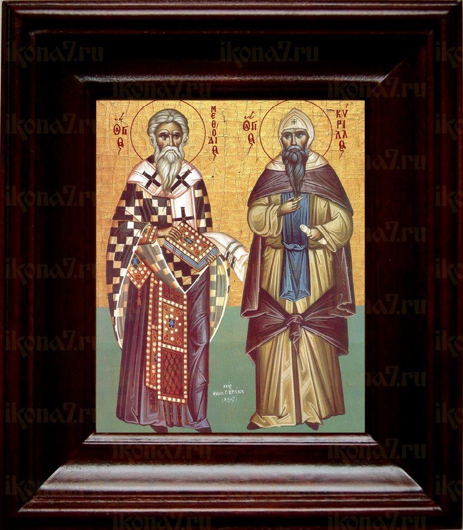 Кирилл и Мефодий (21х24), простой киот