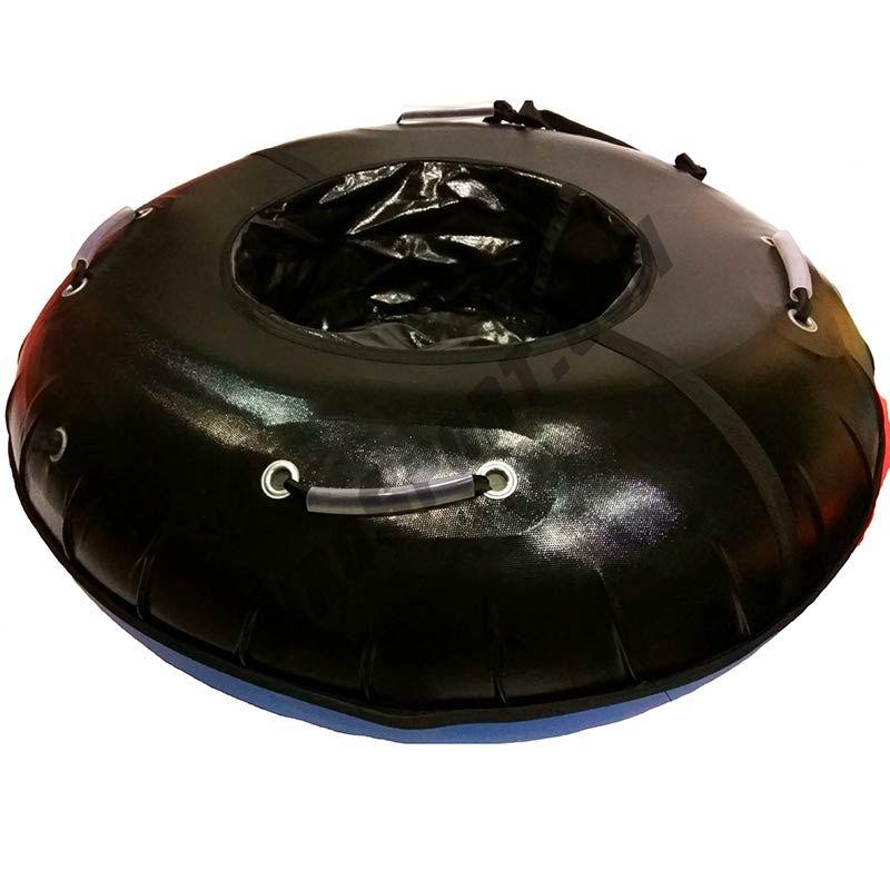Тюбинг 105см с пластиковым дном Профи черный