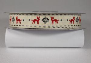 Лента хлопковая с рисунком, ширина 16 мм, рулон 20 ярдов = 18 метров, Арт. ХЛР-CP1028
