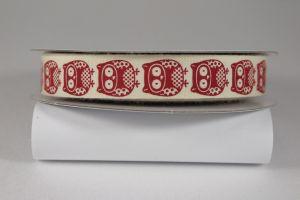 Лента хлопковая с рисунком, ширина 16 мм, рулон 20 ярдов = 18 метров, Арт. ХЛР-P13679