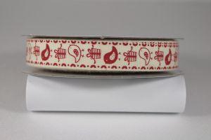 Лента хлопковая с рисунком, ширина 16 мм, рулон 20 ярдов = 18 метров, Арт. ХЛР-P13675