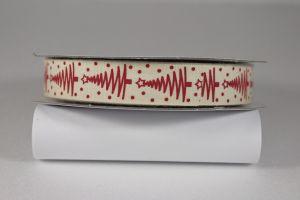 Лента хлопковая с рисунком, ширина 16 мм, рулон 20 ярдов = 18 метров, Арт. ХЛР-P13671