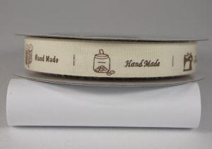 Лента хлопковая с рисунком, ширина 16 мм, рулон 20 ярдов = 18 метров, Арт. ХЛР-SP821