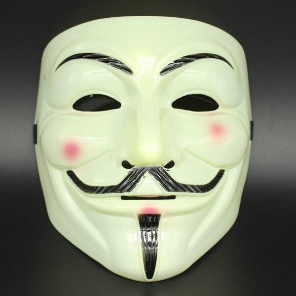Маска Гая Фокса (Анонимус) (кремовая)