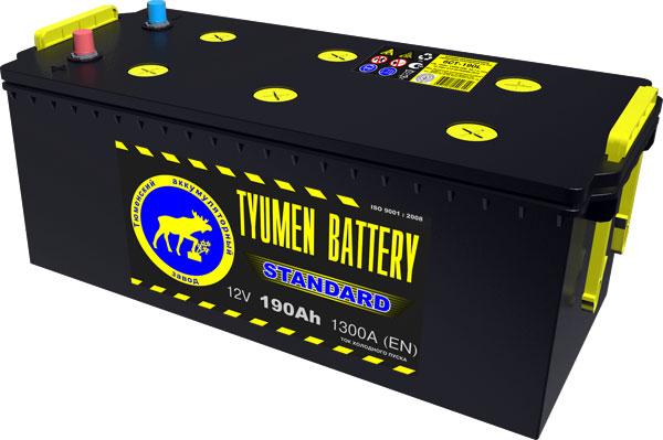 Автомобильный аккумулятор АКБ Тюмень (TYUMEN BATTERY) STANDARD  6CT-190L 190Aч П.П. (4) (росс.)