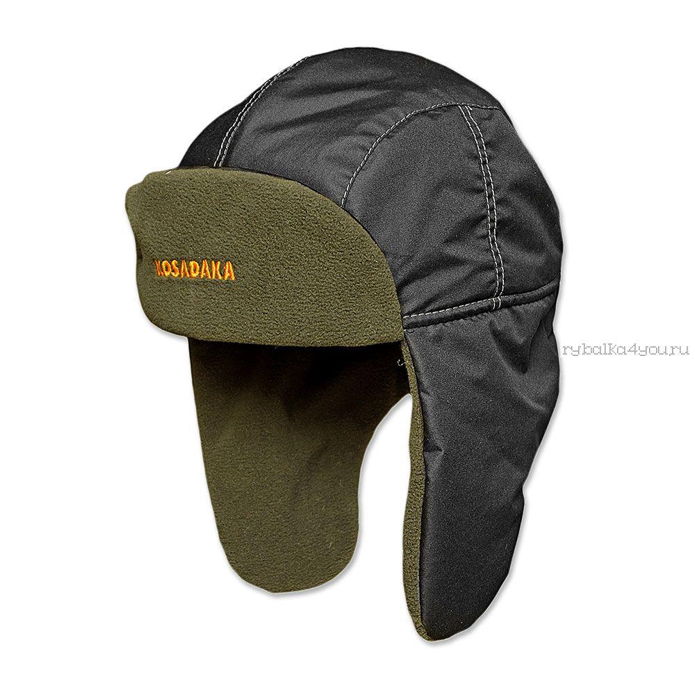 Купить Шапка ушанка Kosadaka Ultra черная плащ.флис хаки
