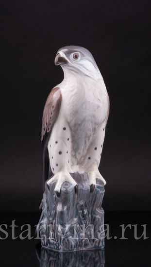 Антикварная старинная Фарфоровая статуэтка птицы Сокол производства Дания