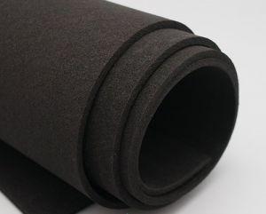 Фоамиран Иранский, толщина 2 мм, размер 60х70 см, цвет чёрный (1 уп = 5 листов)