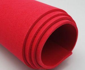`Фоамиран Иранский, толщина 2 мм, размер 60х70 см, цвет красный