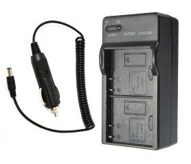 Зарядное устройство на 2 аккумулятора для камер SJCAM (авто)