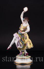Танцовщица с бубном, Dressel, Kister & Cie, Германия, нач. 20 в