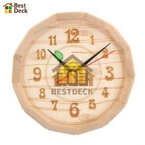 """Часы деревянные из липы """"бочонок"""""""