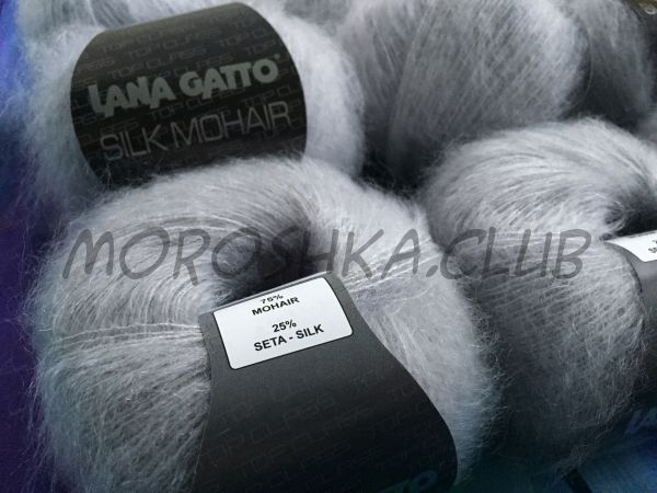 Дымчато-серый Silk mohair (6033) Lana Gatto