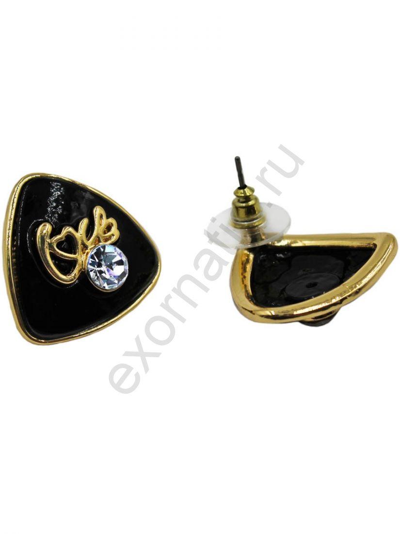Серьги Taya LX T-B-11310 EARR GL.BLACK