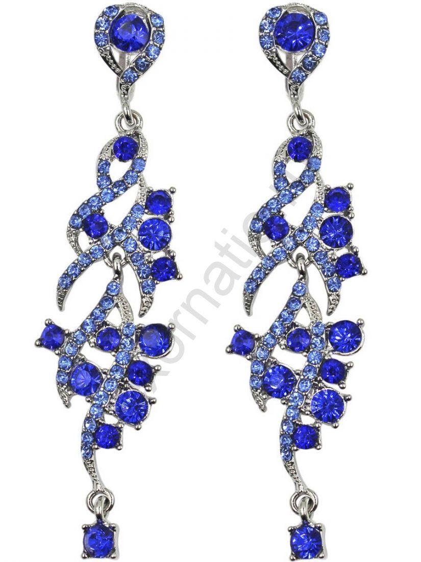 Серьги Taya LX T-B-11276 EARR D.BLUE