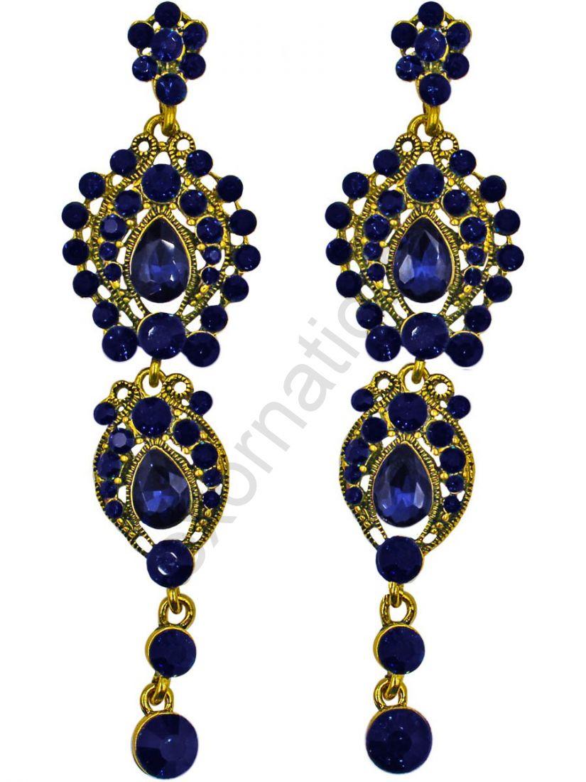 Серьги Taya LX T-B-11280 EARR GL.D.BLUE