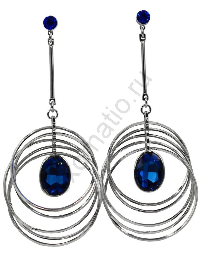 Серьги Taya LX T-B-11236 EARR SL.D.BLUE