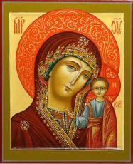 Венчальная пара 19. Казанская БМ (рукописная икона)