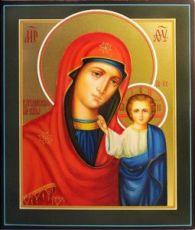 Венчальная пара 25. Казанская Божией Матери (рукописная икона)