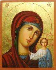 Венчальная пара 34. Казанская Божией Матери (рукописная икона)