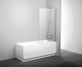 Шторка на ванну Ravak PVS1-80 L/R сатин+транспарент
