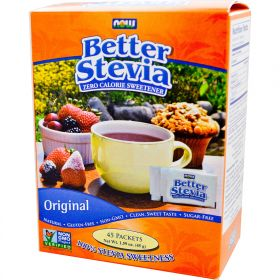 Now Foods Better Stevia Zero Calorie Sweetener (45 пакетиков.)