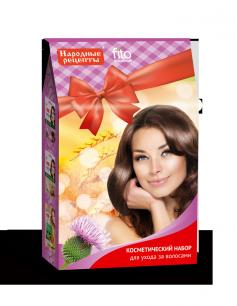 """""""fk"""" Набор косметический подарочный """"Народные рецепты"""" уход за волосами, 2х30мл+20мл"""