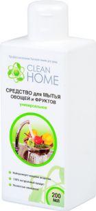Средство для мытья овощей и фруктов универсальное CLEAN HOME