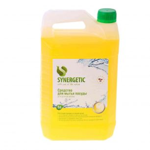 """""""Synergetic"""" Антибактериальный гель для посуды, фруктов и игрушек с ароматом лимона 5л"""