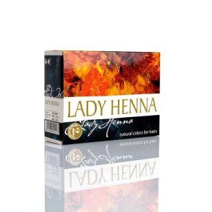 Черный индиго - краска для волос на основе  хны LADY HENNA (№2)