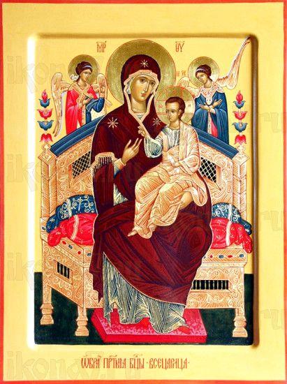 Всецарица икона Божией Матери (рукописная)