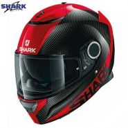 Шлем Shark Spartan Carbon Skin, Красный/черный