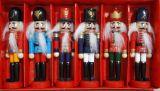 Щелкунчик - набор деревянных ёлочных игрушек 6 шт IR-4
