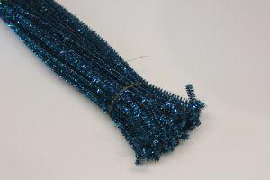 Синельная проволока, блестящая, 5мм х 300мм, цвет морская волна (1уп = 100шт)