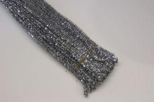 `Синельная проволока, блестящая, 5мм х 300мм, цвет серебро (1уп = 10шт)