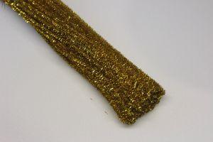 `Синельная проволока, блестящая, 5мм х 300мм, цвет золото (1уп = 10шт)
