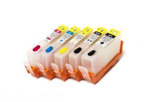 Комплект перезаправляемых картриджей для HP 178 (5 цветов) с чипами (белая упаковка)