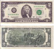 2 доллара США 2009 UNC
