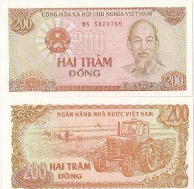 Вьетнам 200 донгов 1987 UNC
