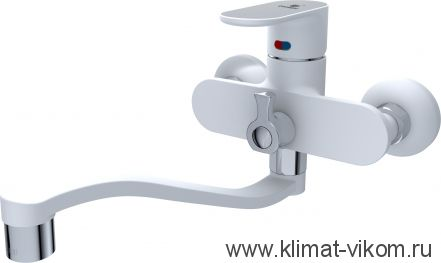 Сместитель ванна 40мм Calorie белая эмаль 2533A45A