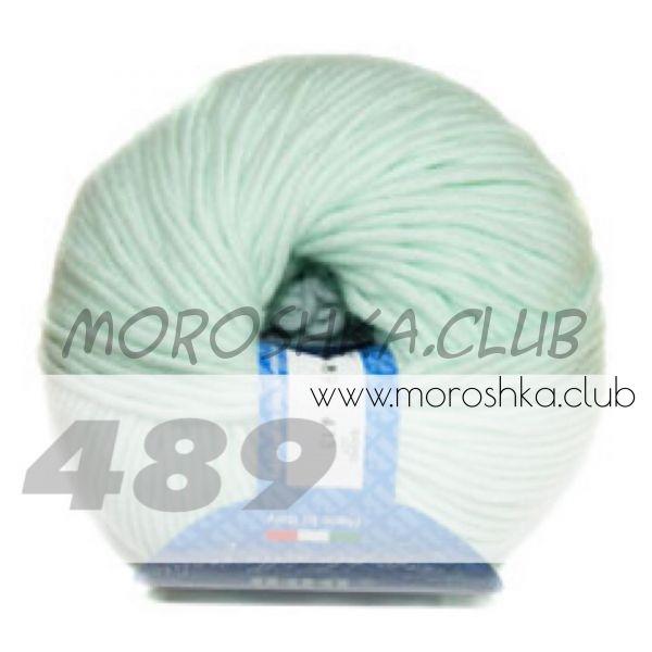 Мятный Merino 12 (50 гр моточек) BBB (цвет 489)