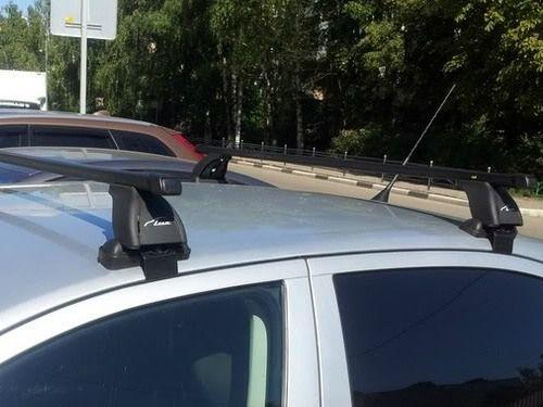Багажник на крышу Skoda Octavia A5, Lux, прямоугольные стальные дуги