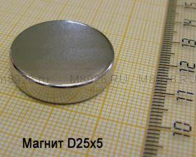 Магнит диск 25х5