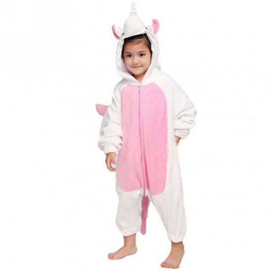 Пижама Кигуруми Детская Единорог Розовый_01