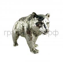 Статуэтка Argenti Piu (Италия) Мишка косолапый 12х8см серебро-гальванопластика 1618