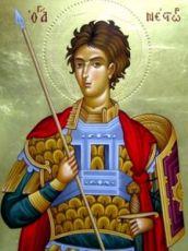 Нестор Солунский (рукописная икона)