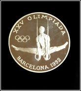 Андорра 20 динар 1988 Олимпиада Барселона 1992, серебро