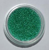 Бульонки для дизайна ногтей прозрачные (зеленые), 5 грамм
