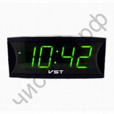 Часы  эл. сетев. VST719-2 зел.цифры (без блока) (5В)